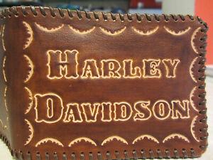 Harley Davidson Porte-Monnaie Portefeuilles Portefeuille Cuir Véritable