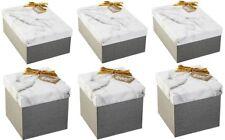 Wondershop Gray Marble 6-Piece Gift Box Kit, 3 Square & 3 Rectangle