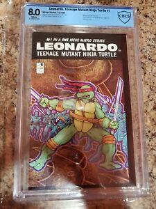 TEENAGE MUTANT NINJA TURTLES LEONARDO 1 CBCS 8.0 MIRAGE TMNT SOLO HOT 1986