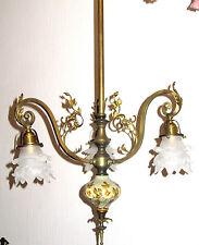 Traumhafte Antik Jugendstil Frazösische Messing-Glas Kronleuchter, Lüster