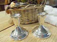 STERLING SILVER CANDLESTICKS  PR. TOWLE