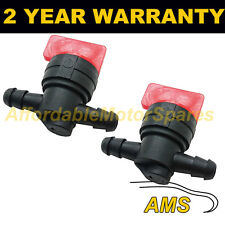 2X FUEL DIESEL PETROL SHUT/CUT OFF STOP VALVE 6MM IN OUT LAWN MOWER IMMOBILISER