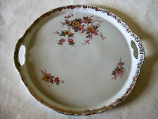 "Victoria Carlsbad Cake Cookie Plate Rose Floral Flower Dish 9 1/2""  - Austria"