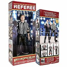NEW 3 Counting and Talking Wrestling Referee Action Figure FREE SHIPPING