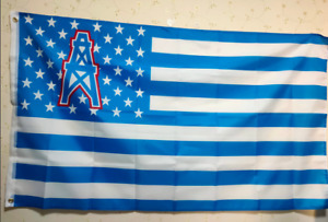 Houston Oilers With Modified US Flag 3X5 FT NFL Banner Polyester FAST SHIPPING!!