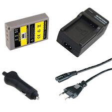 Batteria Patona + Caricabatteria casa/auto per Olympus E-PL5,PEN E-PL6,E-PL6