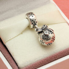 * Authentic Pandora 791410CZ Christmas Ornament Dangle Bead Charm Gift