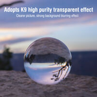 80mm Clear Glass Crystal Ball Healing Sphere Photography Props Lensball Decor