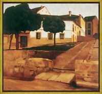 Framed Diego Rivera Street in Avila Giclee Canvas Print Paintings Poster