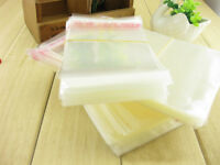 100Pcs Clear Plastic Cellophane Cello Display Bags Self Adhesive Seal