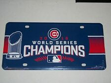 CHICAGO CUBS WORLD SERIES CHAMPIONS METAL LICENSE PLATE