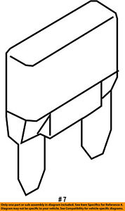 FORD OEM Fuse Relay-Circuit Breaker D9AZ14526A