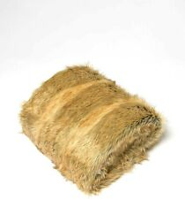 "Best Home Fashion Faux Fur Throw - Lounge Blanket - Amber Fox - 58""W x 60""L"