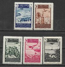 SPANISH MOROCCO  1942. Complete series 5 New stamps**. Air Mail       (5460)