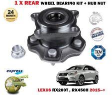 para Lexus rx200t RX450h 4x4 2015- > NUEVO TRASERO x 1 KIT DE RODAMIENTOS CUBO +