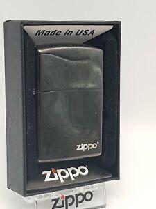 Original Zippo -  Black Ice Zippo Logo 60001213 - 2018 - Neu
