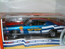 1/18 1971 DODGE CHARGER SUPER BEE `ROD SHOP` SUPERSTOCK DRAG CAR , AUTOWORLD