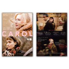 Carol Movie Poster 2015 Cate Blanchett, Rooney Mara, Kyle Chandler, Todd Haynes