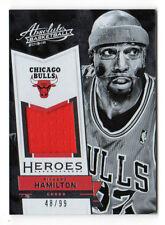 RICHARD HAMILTON NBA 2015-16 ABSOLUTE MEMORABILIA HEROES MATERIALS(CHICAGO BULLS
