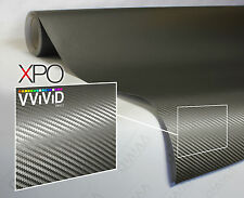 VViViD XPO Gray Carbon Fiber vinyl car wrap 1ft x5ft decal 3mil decal plane boat