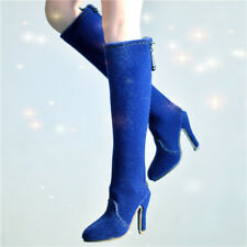 High-heel blue Shoes Model For 1/6th Female Phicen PL2013-25 Figure Accessory