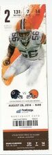 2014 CLEVELAND BROWNS VS CHICAGO BEARS TICKET STUB 8/28/14 JOHNNY MANZIEL