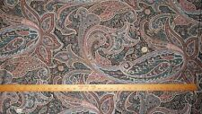 """Silver, Pink, Blue, Gray Black Floral Paisley Cotton Fabric  48"""" wide  BTY"""