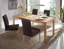 Tischgruppe Kernbuche Tisch Emilian 125(165)x80 + 4 Stühle Ivett braun Essgruppe