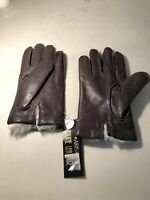ARIS Vtg NEW Leather Gloves Chocolate Color Brown Size Large