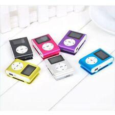 MP3 Player USB Mini Clip LCD Screen 32GB Micro SD TF Card Radio Walkman
