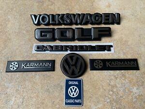 Mk1 Golf GTI Cabriolet FULL SET (6) Badges