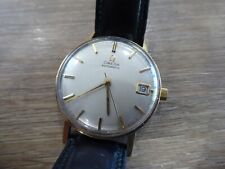 RARE OMEGA AUTOMATIC 9 CARAT GOLD 24 JEWELS GENTS WRISTWATCH / CAL.562 - WORKING