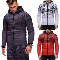 Men's Winter Hoodie Warm Pullover Fleece Sweatshirt Hooded Coat Sweater Tops