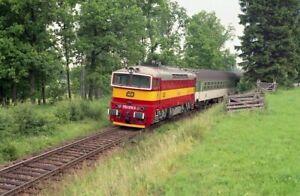 Lokomotive CSD / CD 754.078, Žamberk-Karlovice 5.7.1996