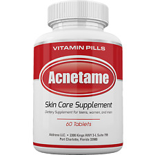 Best Acne Treatment Pills Supplement- Natural Pimple Vitamin- Acnetame
