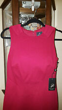 Women's, Red, Sleeveless, Cocktail/ Party/ Evening Dress, Fully Linned med.knit