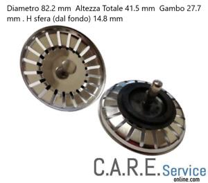 SMEG TAPPO FILTRO LAVELLO DIAMETRO 82.2 mm. ALTEZZA SFERA mm.14.8 - COMPATIBILE