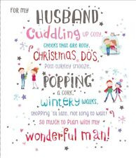 Husband Christmas Greeting Card Embellished Special Xmas Cards