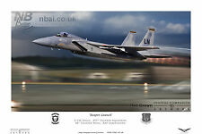 493rd Fighter Squadron, F-15C Eagle, 48th FW RAF Lakenheath, Digital Artwork