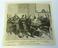 1885 magazine engraving ~ GROVER CLEVELAND AND HIS CABINET