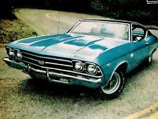 1969 CHEVY CHEVELLE SS 396 ORIGINAL AD *Malibu/SS396/door/hood/hinge/windshield