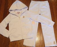 JUICY COUTURE AUTHENTIC BABY GIRLS BRAND NEW 2Pc SET WHITE SUIT Size 18-24M, NWT