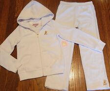 JUICY COUTURE BABY GIRLS BRAND NEW WHITE 2Pc SET HOODED SPORT SUIT Sz 12-18M,NWT