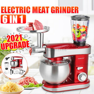 Küchenmaschine StandMixer Fleischwolf Ice Crush Teigkneter Knetmaschin 3IN1