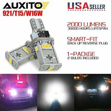 AUXITO 2x Canbus 921 T15 W16W LED Reverse Back up light bulb 3020SMD Xenon White