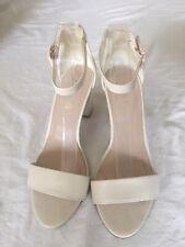 c7a8550880 Miss KG Women Off White Block Heel Ankle Strap Sandals Size 7/40(H31