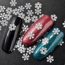 White Snowflake Nail Stickers Christmas Snow Stickers 3D Adhesive Sticker