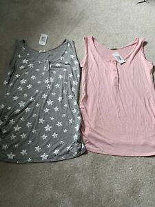 The Essential One Vest X 2 Size 12-14 Maternity Brand New !