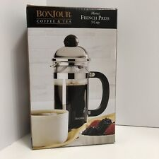 Bonjour 3 Cup Monet Stainless Steel French Press 53333 New In Box
