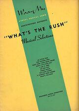 """Sheldon Harnick """"WHAT'S THE RUSH"""" Northwestern Univ. 1949 Waa-Mu Show Songbook"""